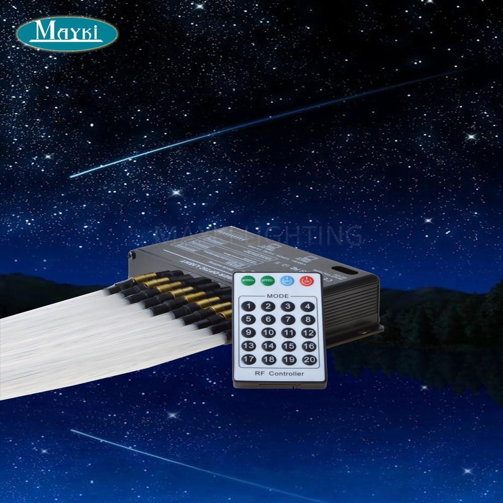 Maykit New fiber optic shooting star light with 5W white LED light engine + 300pcs 0.75mm fibers + 24keys remote controller