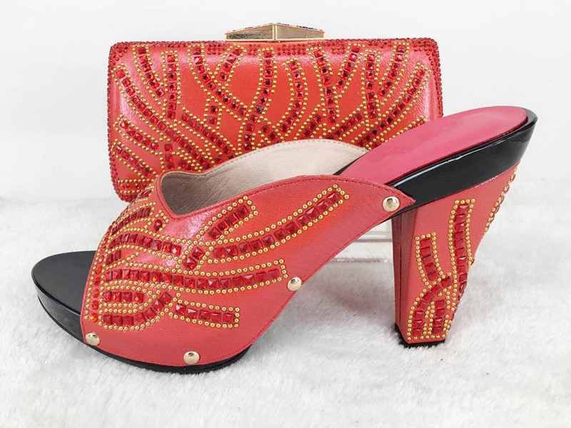 ФОТО Fashion Shoe and Bag Designer Shoes and Bag Sets 2016 Wedding Shoes and Bag High Heels African Shoe and Bag Set Italy lu1-50