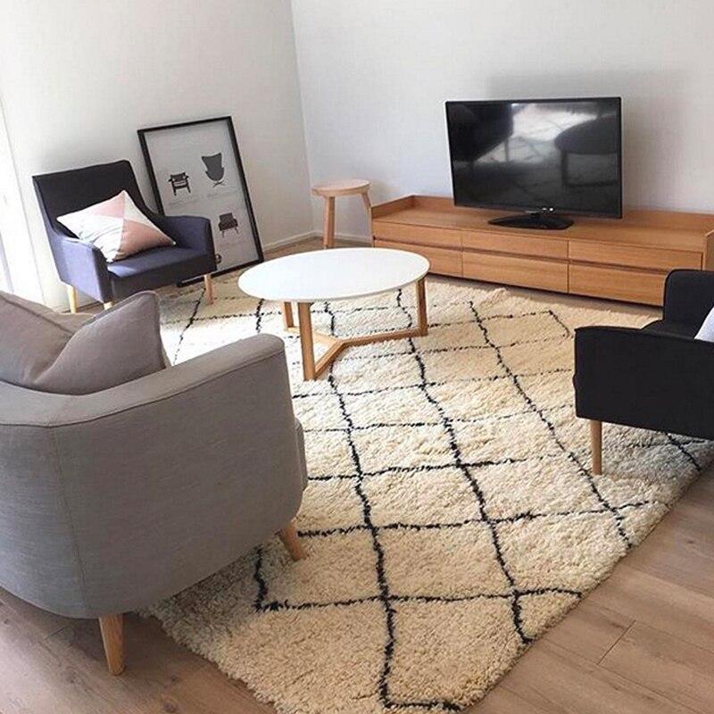 Tapis mélangés de Style méditerranéen pour salon chambre offre spéciale tapis doux délicat grand tapis de salle de réunion chambre d'enfant