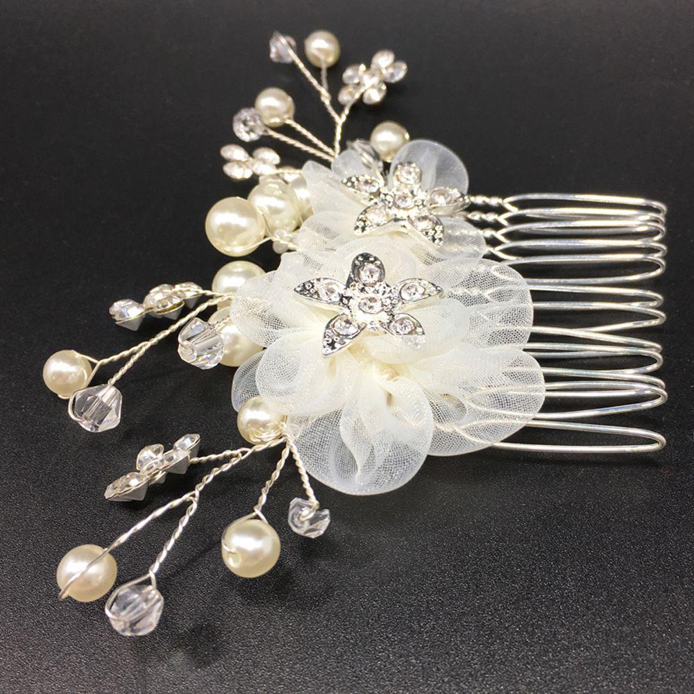 Haircomb Jewelry Bride Barrette Bridal Headpiece Pearl Hairpin Comb Hairwear