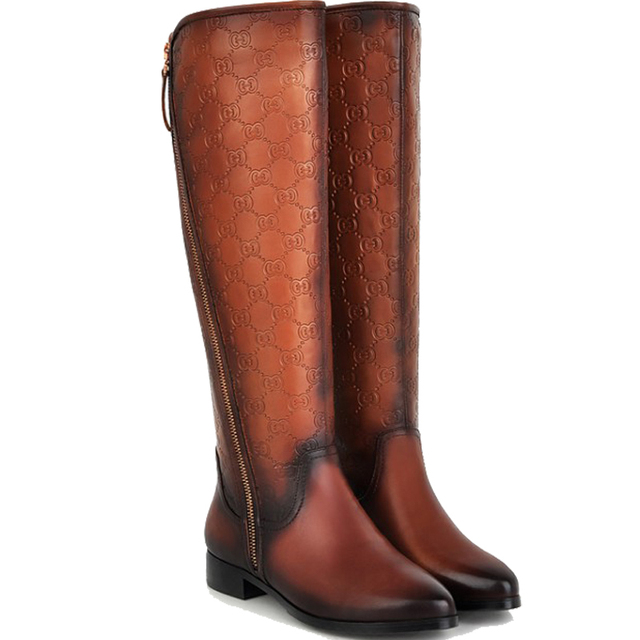 High Quality Women Winter Boots Larger Size 10 11 Genuine Leather ...