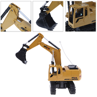 RC Excavator 5CH Remote Control Constructing Truck Crawler Digger Model Electronic Engineering Truck Toy