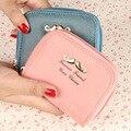 2016 New Fashion Women Wallets Bearded Nubuck Leather Zipper Wallet Women's Short Design Purse Coin Purse Card & ID Holder