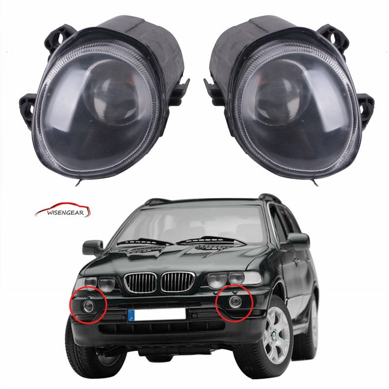 ФОТО 1 Pair Car styling Front Fog Lights Driving Lamps For BMW X5 E53 2000 - 2002  63178409025 / 63178409026 C/5