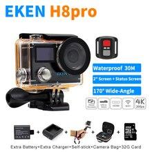 2017 Новый Экен H8 PRO Ultra HD Действий Камеры С A12 Ambarella Чип 2.0 «Экран 4 К/30fps 1080 P/120fps Go Pro Спорт камера