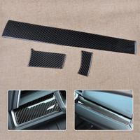 3pcs Car Styling Carbon Fiber Center Console Dashboard Cover Trim Sticker Fit For Honda Civic 10th