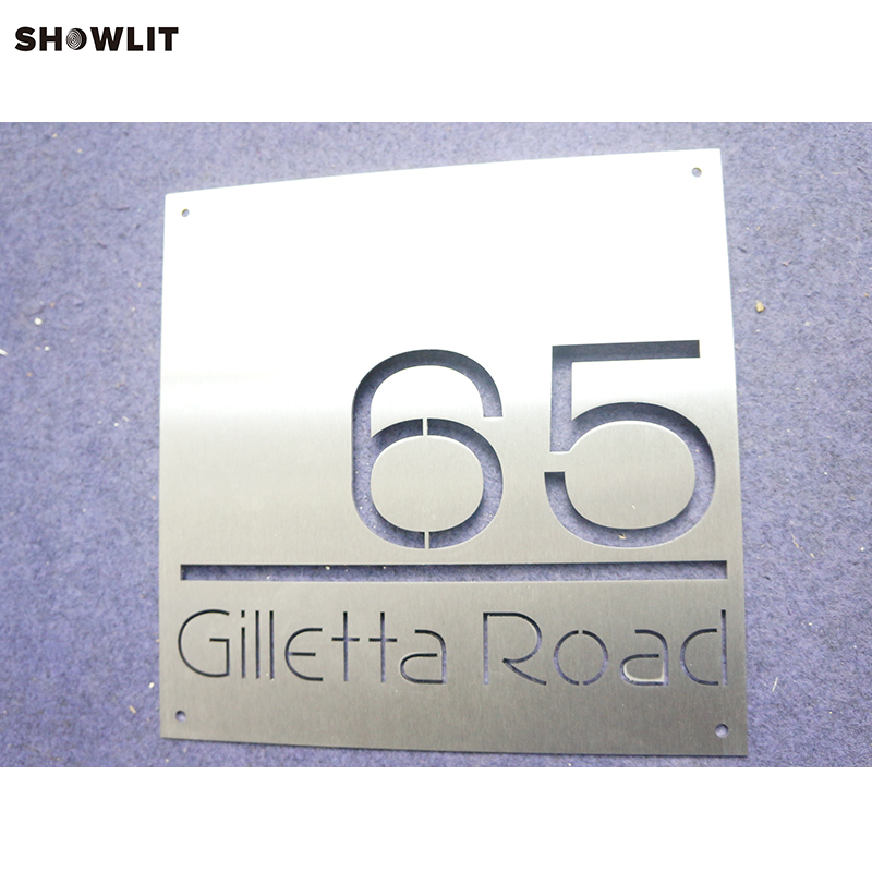 Laser Cut Precision Producing Brushed Stainless steel Office SignageLaser Cut Precision Producing Brushed Stainless steel Office Signage