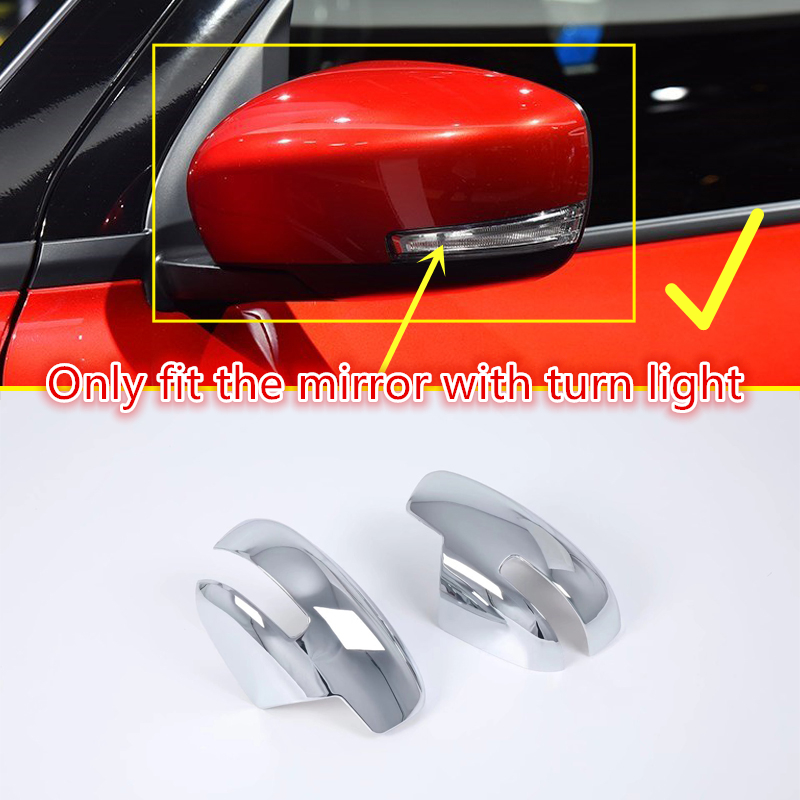 For Suzuki Swift 5-door hatchback 2018 2019 ABS Chrome Side Rearview Mirrors Cover Decoration Trim 2pcs Car Accessories xyivyg for ford kuga escape 2013 2014 2015 chrome side rearview mirrors cover trim 2pcs