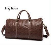 Flug katze高品質男性旅行バッグ本革ファッション男