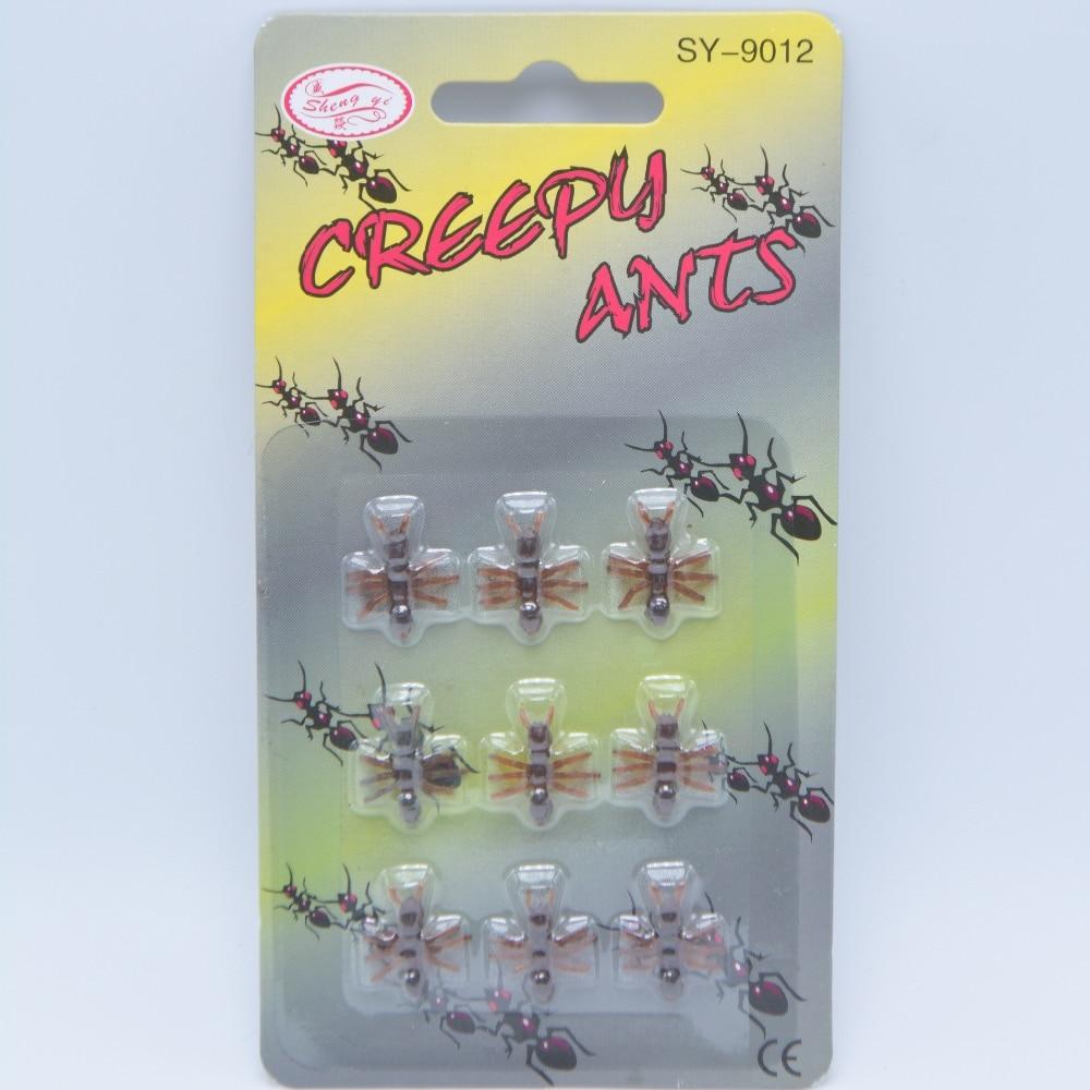 10PCS Christmas Gift Ant Prank Funny Trick Joke Special Lifelike ...