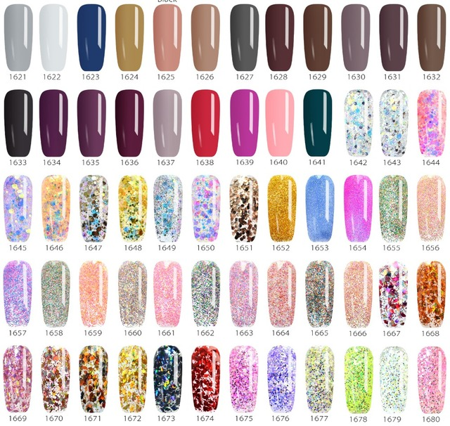 #50638 Professional Nails Gel CANNI Nails Art UV LED Gel Neon Paint Colors 2018 Venalisa New Design 180 Starry Colors Nail Gel