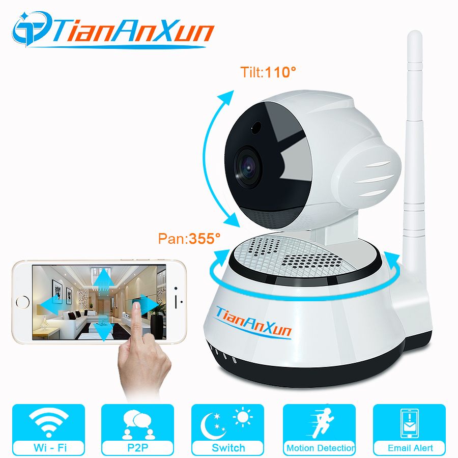 TIANANXUN Home Security IP Camera Wireless Smart WiFi Camera WI-FI Audio Record Surveillance 720P Baby Monitor Mini CCTV Camera