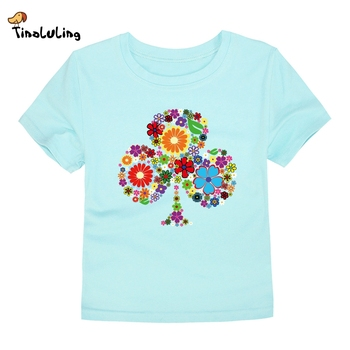 TINOLULING 2018 Summer Kids Flower Tree T-Shirt Boys Girls Tree T Shirt Children Tops Baby Tees For 2-14 Years