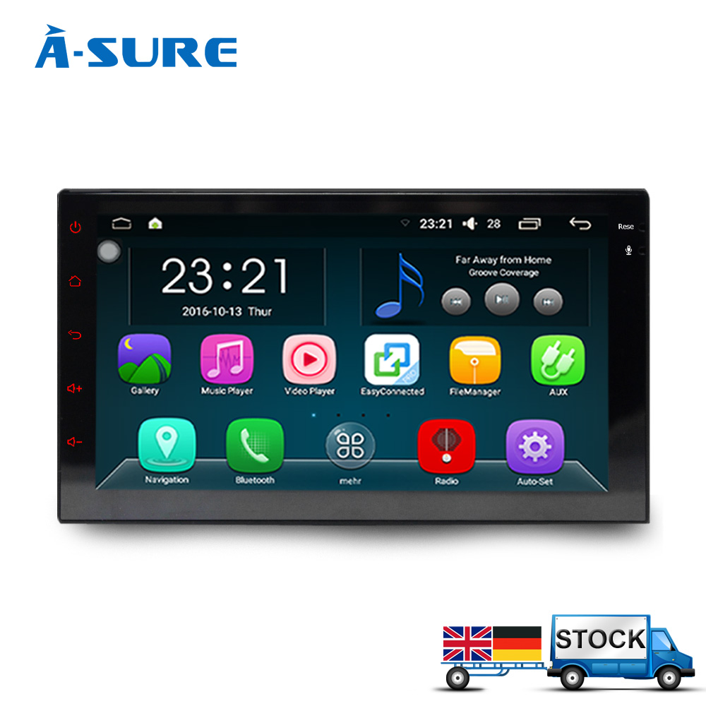 A Sure Android 5 1 1 DAB Double GPS Universal ISO 2 Din Radio Player sat