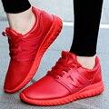 Hombres Zapatos Casuales Soild PU Suave de Cuero Deporte Plana Zapatos Para Caminar Unisex Canasta Femme Superestrella Entrenadores Zapatillas de Casa Rojo Negro