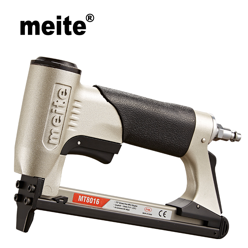 Meite MT8016 21GA Crown 12.8mm Fine Wire Stapler 80 Staples Length 6-16mm Series Furniture Pneumatic Nailer Gun Jun.14 Update