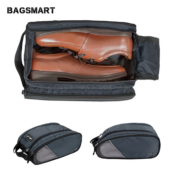 BAGSMART Travel Accessories Waterproof Breathable Portable Shoe Bags For Heels Socks Bag Travel Suitcase Shoes Pouch with Mesh bagsmart 17 travel bags for clothes