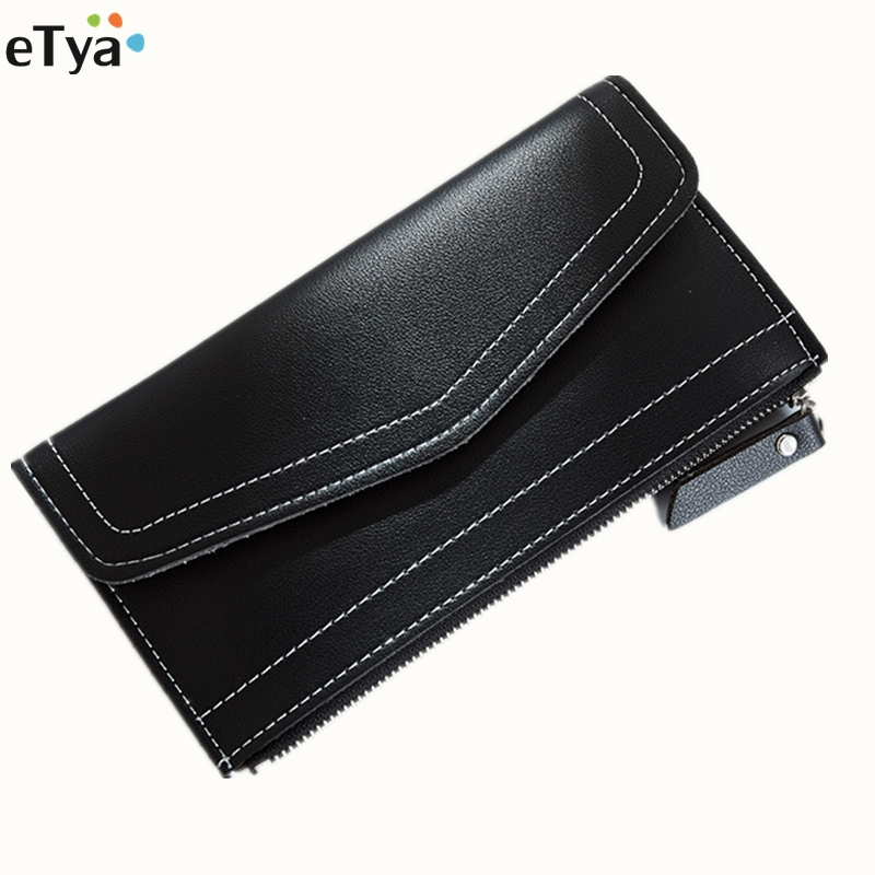 2017 New Leather Wallet Women PU Thin Long Coin Hasp Purses credit Card Holders Ladies slim Money Case Pouch ougold women wallet famous brand fashion smooth pu leather female thin hasp wallets red credit card holders