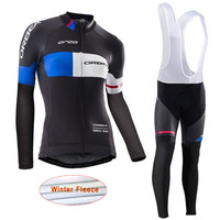 Orbea Team Cycling Jerseys Long Sleeve Sets Pro Winter Thermal Fleece Women Bike Cycle Clothing Mountain