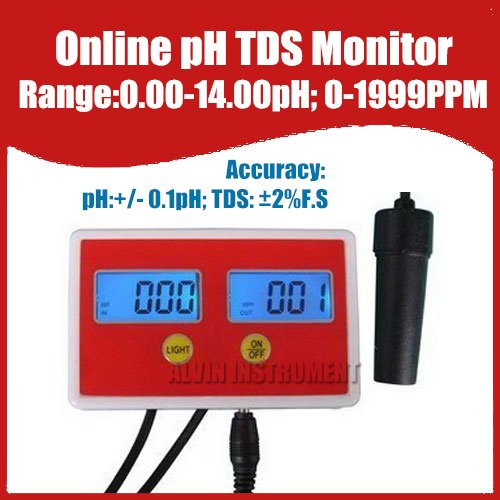 Free Shipping Aquarium Online PH / TDS Monitor ph meter tds meter tester 0-14ph  0-1999PPM buy monitor cable online india
