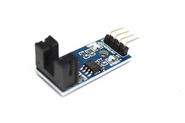 Envío Gratis 100 Uds infrarrojo ir Módulo Sensor de velocidad/Motor Módulo de prueba/ranura Tipo optoacoplador módulo 4 pin LM393