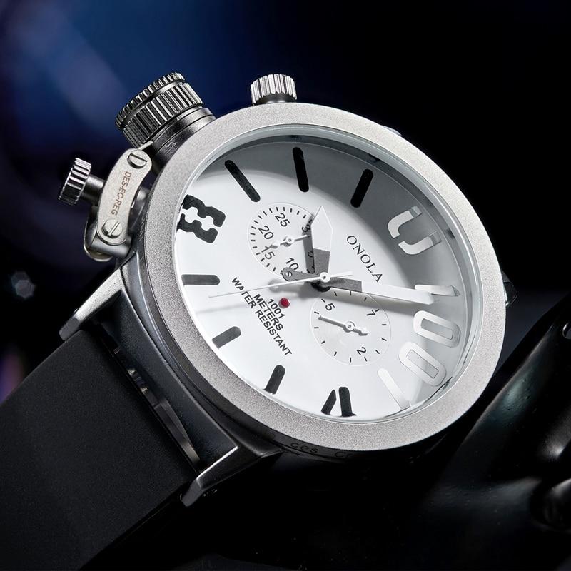 2019 ONOLA brand Automatic mechanical mens watches wristwatches clock fashion military SPORTS waterproof men BIG watch
