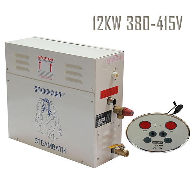 Free shipping Ecnomic type 12KW 380 415V SAUNA STEAMER Bath GENERATOR HOME SPA SHOWER