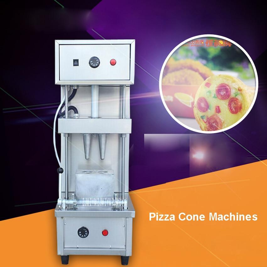 Cheap price pizza cone making machine/umbrella cone pizza /cone pizza Double head sweet pizza machine commercial   110V/220V conical pizza cone pizza mini pizza cone machine