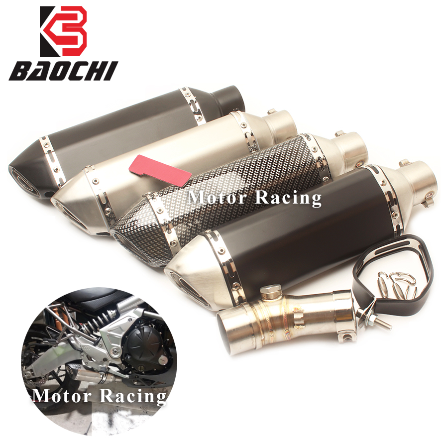 Motorcycle Exhaust System Middle Tube DB Killer Adapter Pipe Escape Muffler for Kawasaki ER6N ER6F 2009