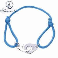 Slovecabin Best Gift Simple Elegant Rope Handcuff Bracelet For Women Europe Popular 925 Sterling Silver Bracelet
