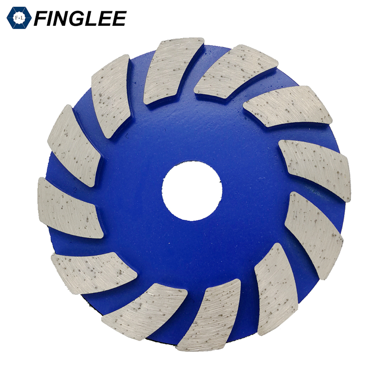 3pieces/lot 4 inches Metal grinding pads 100mm diamond polishing dry concrete pad granite