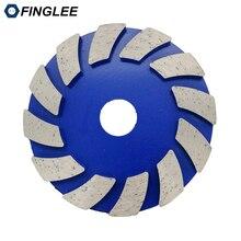 Купить с кэшбэком 3pieces/lot 4 inches Metal grinding pads 100mm diamond polishing pads Metal dry concrete polishing pad polishing granite