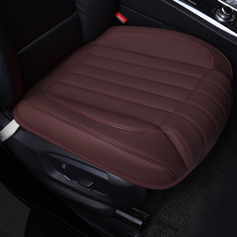 2018 new car cushions for four seasons with three pieces of backless skid front row single seat leather backseat cushion single in Automobiles Seat Covers from Automobiles Motorcycles