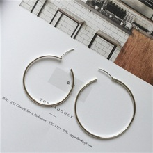 925 sterling silver big ear ring retro simple wild earrings fashion jewelry exaggeration  Hypoallergenic woman