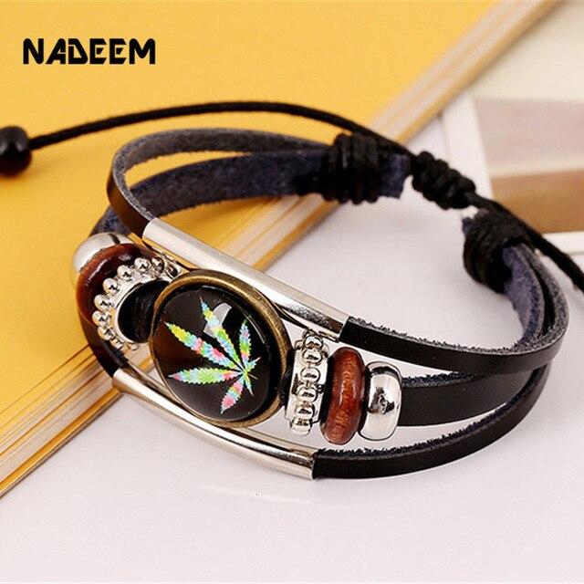Модный браслет nadeem с Кленовым листом ручной работы для мужчин