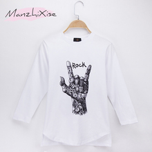 2019 Special Discount Children Clothes Kids T-shirts Full Rock 100% Cotton Child Boys Long T Shirt Baby Girls Top Unisex 4T-14T