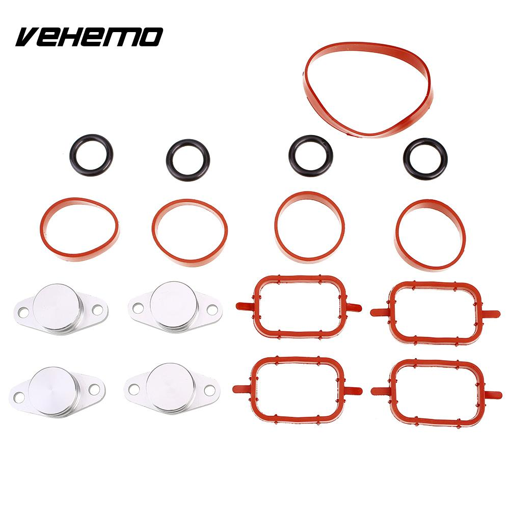 Vehemo Swirl Flap Blank Aluminium Rubber Swirl Flap Blanking Plate Replacement Intake Manifold Gasket Durable for BMW цены онлайн
