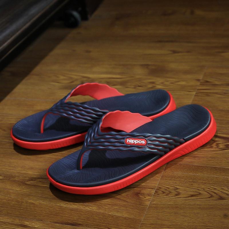Summer Men Designer Flip Flops Men Fashion Beach Shoes Lightweight Casual Slip-Resistant Sandals Slippers Breathable Shoes