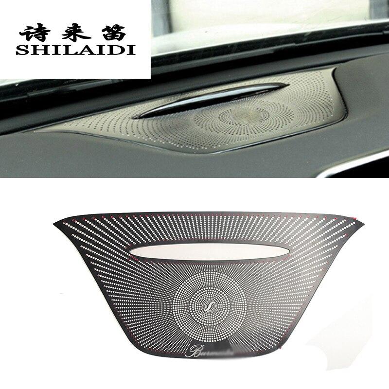 Styling Car Audio Speaker Altifalante Tampa Do Painel Guarnição Adesivo Para Mercedes Benz UMA ABL CLA Classe W176 X156 C117 Acessórios
