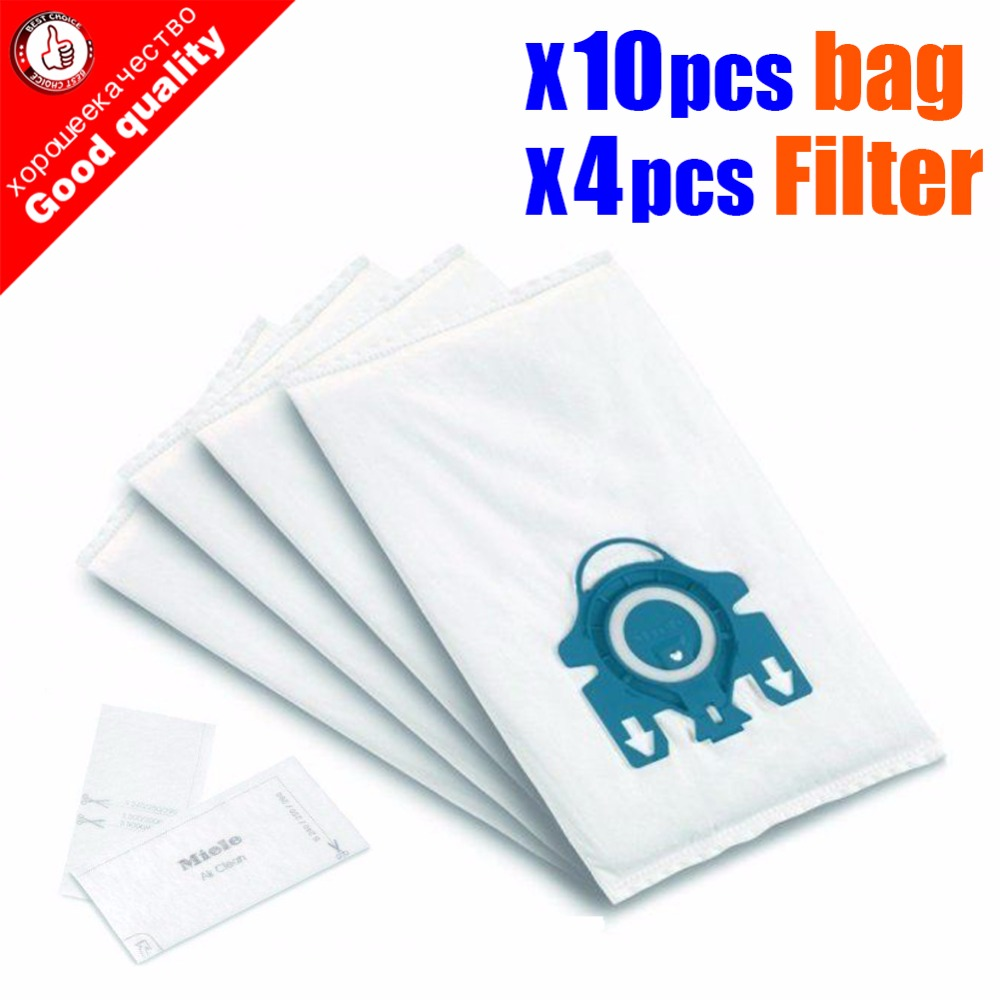 10Pcs/Lot Hepa Vacuum Cleaner DUST BAGS With FILTERS For Miele Type GN Deluxe Synthetic Vacuum & 4 Filters S2 S5 S8 C1 C3