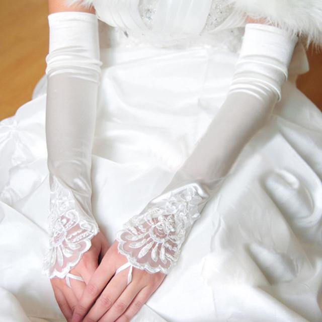 DK Nupcial Elegante Longo Fingerless Golves Golves Casamento Acessório Nupcial para Diferentes Ocasiões