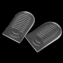 Invisible Heel Pads Silicone Gel Protector Insert Insole Pain Relief Shoe Pad Cushion Soft Massage Heighten Non Slip High Heel 1 2 pairs of high heeled shoes cushion non slip silicone embellished invisible insole with heel socks