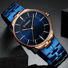 купить CURREN 2019 Reloj Hombre Relogio Men Watches Fashion Blue Man Watch Luxury Brand Waterproof Quartz Analog Wrist Watch Men Time дешево