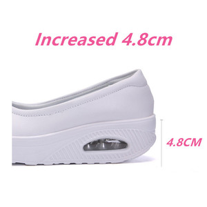 Image 4 - STS Brand Spring Mother Casual Women Thick Flats Shoes Casual Comfort Low Heels Flat Loafers Nurse Shoes Slip Resistant Platform