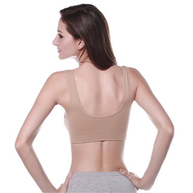 New 3 Colors Women Sport Bra Lady Yoga Vest Seamless Fitness Sports Bra Tops Gym Underwear Bras