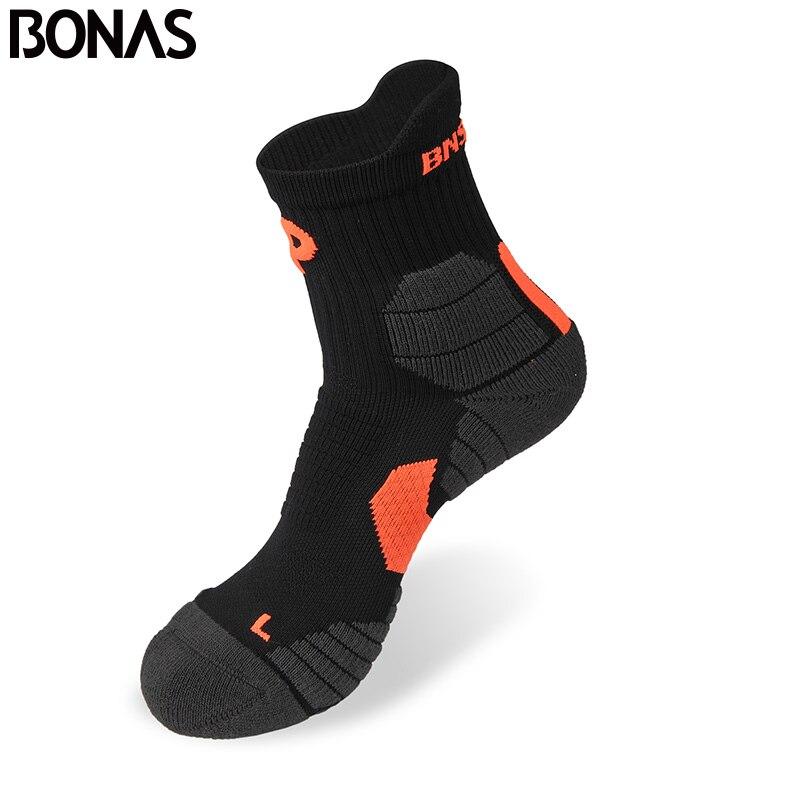 Bonas marque hommes Cool Max Polyester chaussettes courtes de haute qualité décontracté adulte chaud coton chaussettes de Sport automne séchage rapide chaussettes