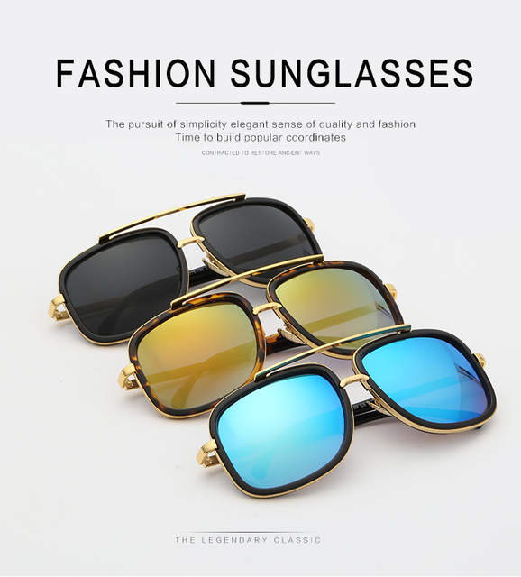 73e719f8b0ec3 2017 Luxury Brand Men Square sunglasses Women Vintage Sun Glasses for Ladies  Driving Brad Pitt Glasses