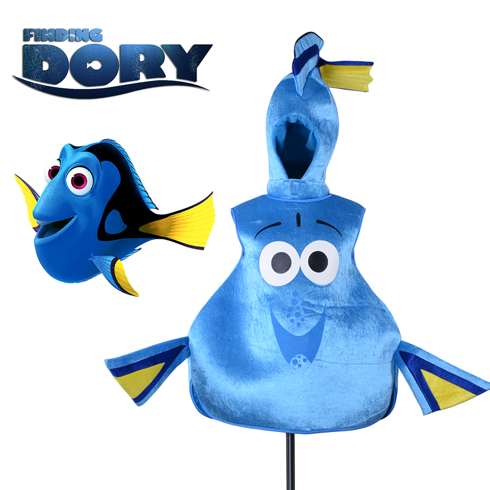 Dory Vis Finding Dory Cosplay Costume Adult Regal Blue Tang Dory Mascot