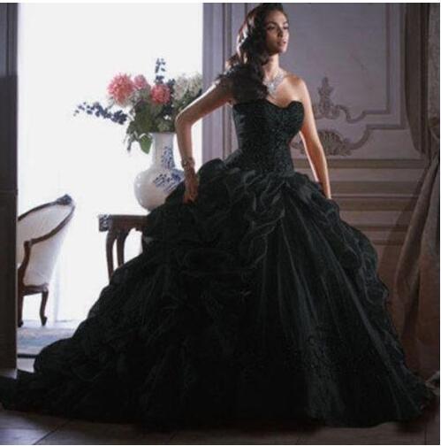 Corset Black Wedding Dress Fashion Dresses