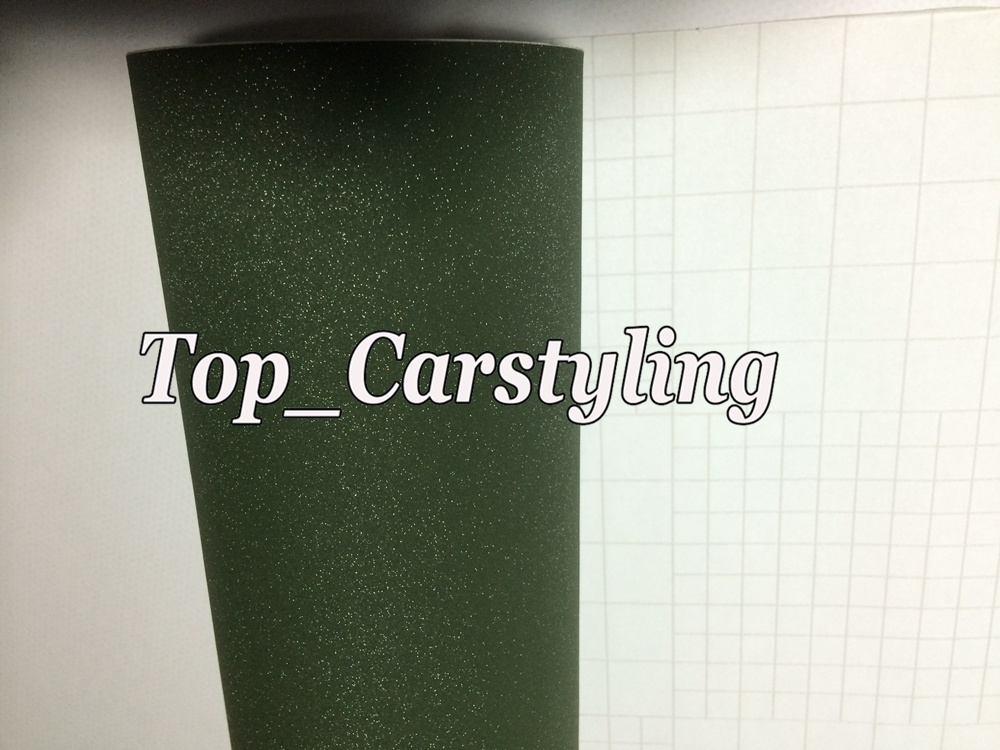army green matte sandy glitter frosty car wrap film apa 3m (4)